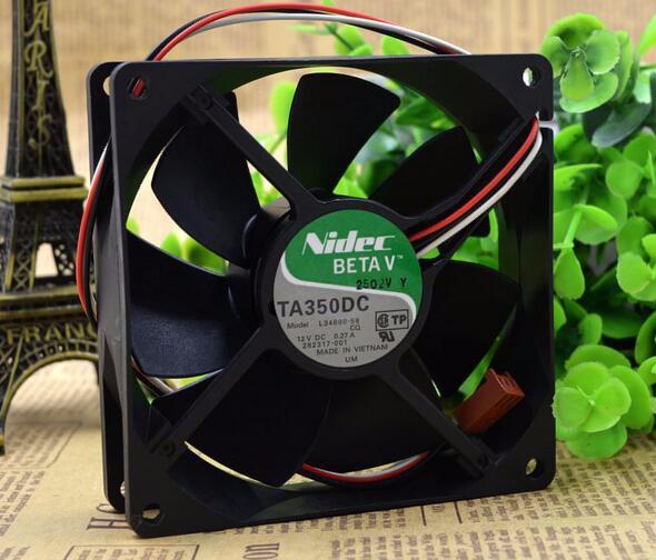 NIDEC L34880-58 IWA 12V 0.27A 90*90*25 9CM three wire chassis power supply fan