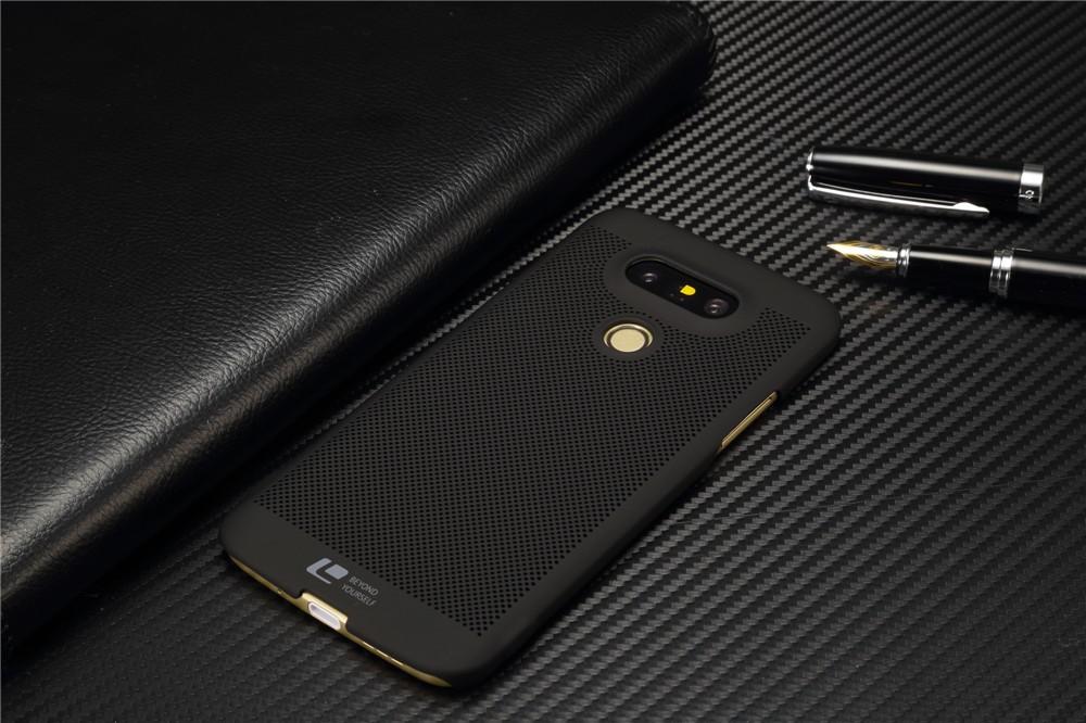 Luksusowa marka ultra thin Nowy siatka powrót pokrywy skrzynka dla LG przypadkach i pokrowce na g5 G5 oryginalne akcesoria 9