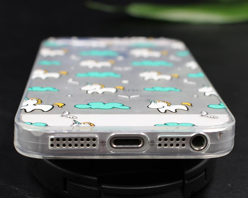 Jednorożec dla iPhone 7 7 Plus 5 5S SE 6 6 S Plus Przypadku dla Samsung Galaxy S3 S4 S5 S6 S7 S8 Krawędzi Plus J3 j5 J7 A3 A5 2016 2017 Pokrywa 7