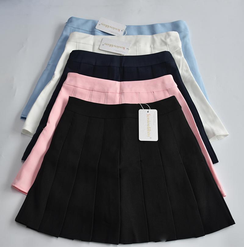 Elegant half pleated high waist mini skirt 8