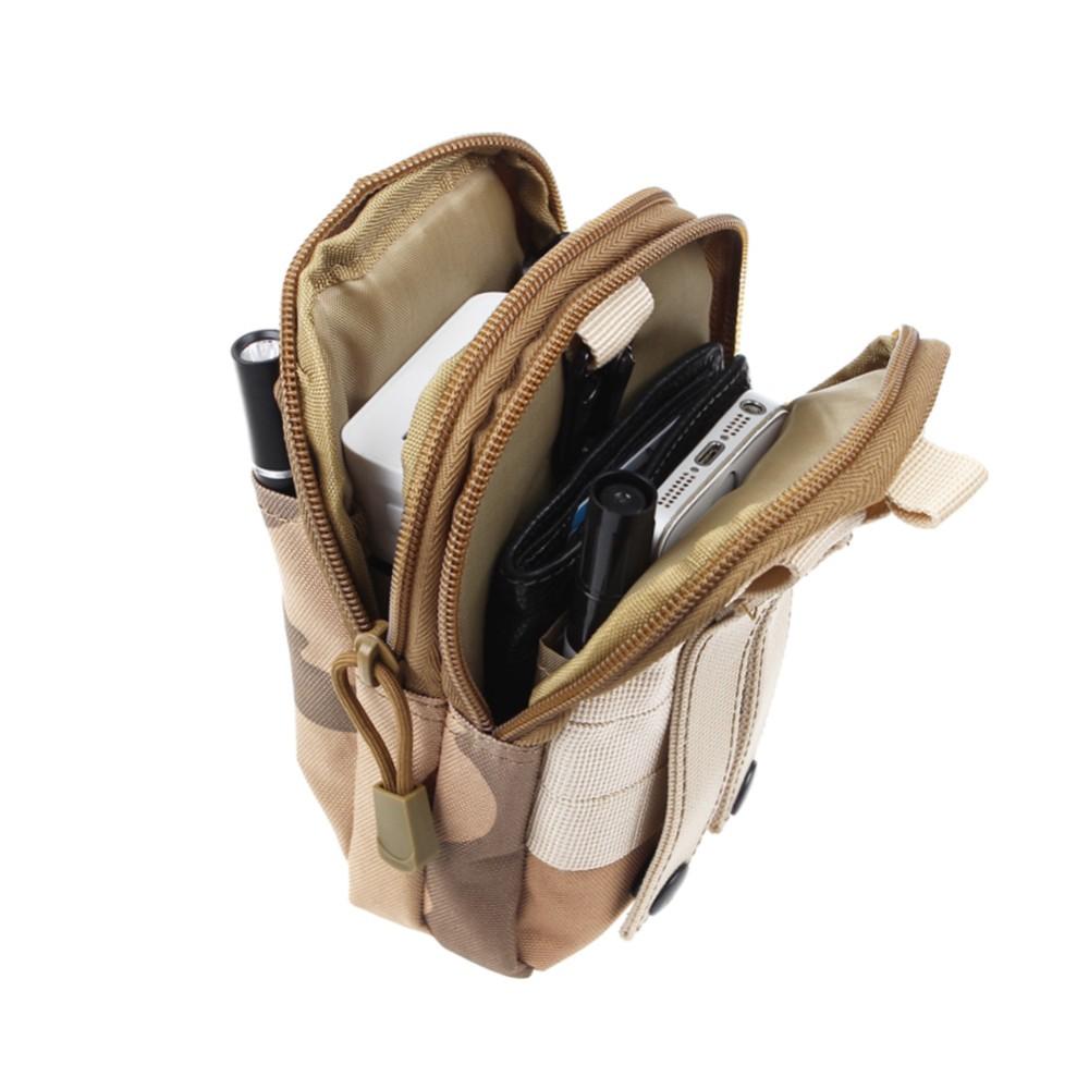 Uniwersalny Odkryty Wojskowy Molle Tactical Kabura Pasa Biodrowego Pasa Torba portfel kieszonki kiesy telefon etui z zamkiem błyskawicznym na iphone 7/lg 10