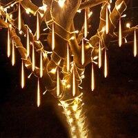 Beiaidi 30 cm 50 cm 방수 유성 샤워 비가 튜브 led 문자열 조명 야외 크리스마스 웨딩 가든 트리 장식 화환
