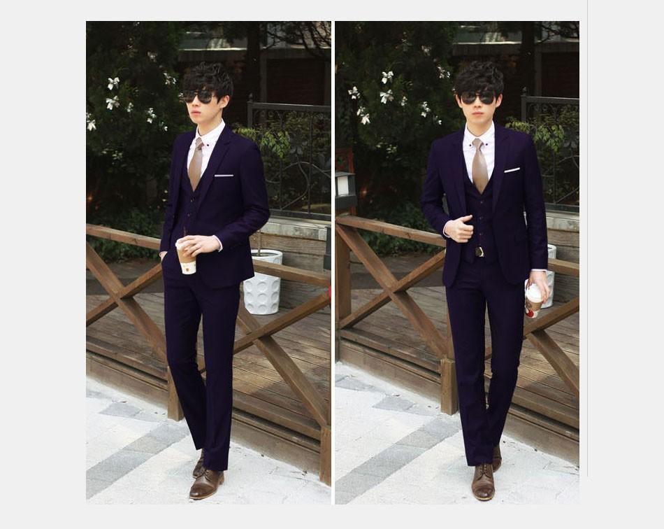 (Kurtka + Spodnie + Tie) luksusowe Mężczyzn Garnitur Mężczyzna Blazers Slim Fit Garnitury Ślubne Dla Mężczyzn Kostium Biznes Formalne Party Niebieski Klasycznej Czerni 14