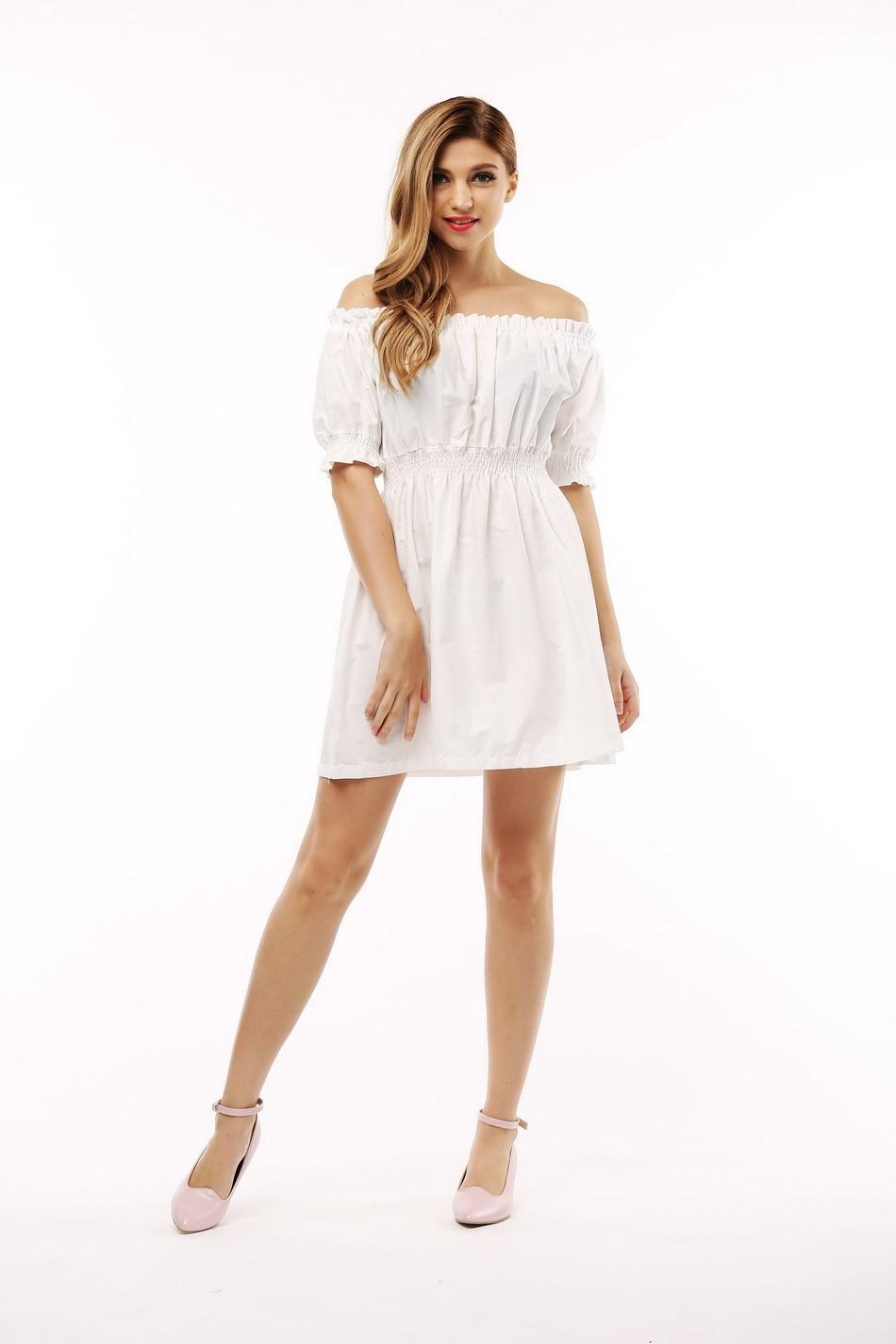 100% bawełna nowy 2017 jesień lato kobiety dress krótki rękaw casual sukienki plus size vestidos wc0380 9