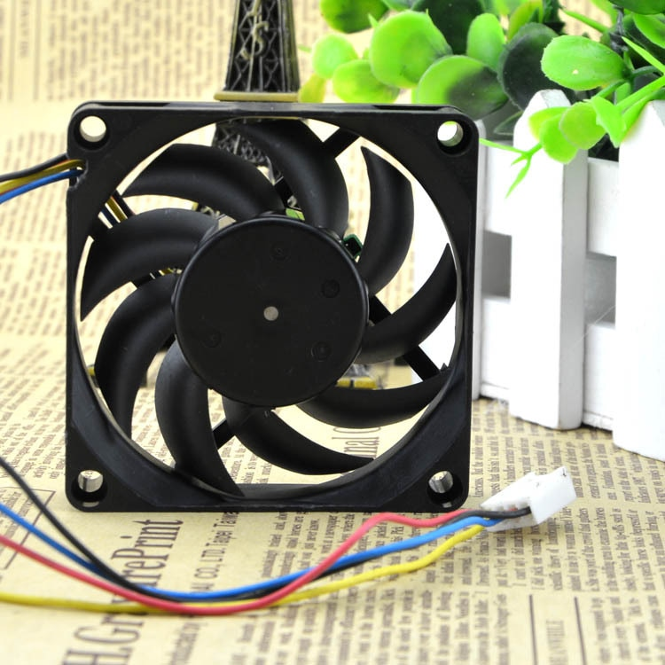 Original Nidec TA275DC C35598-35 GFOX 7cm 7015 12V 0.48A four-wire pwm axial fan