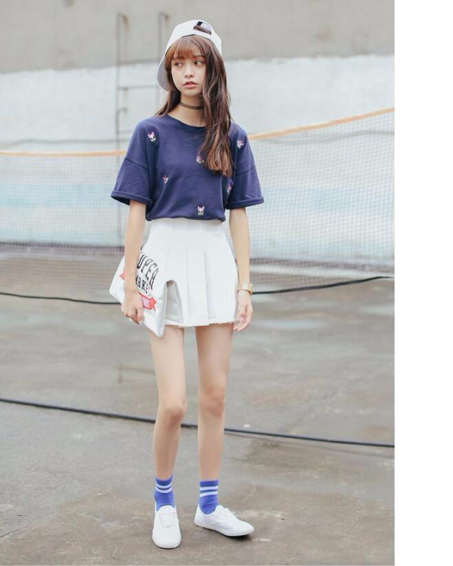 Elegant half pleated high waist mini skirt 3