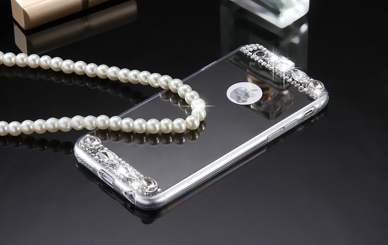 Dla iphone 6 7 case glitter lustro sprawach phone bag dla iphone 7 6 6 s plus 5S 5 se diamond case do samsung s8 plus s6 s7 krawędzi 2