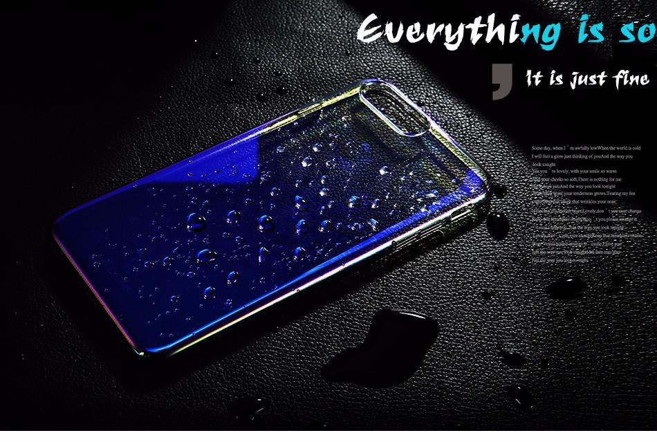 Floveme dla iphone 6 6s plus case 5 5S se gradient blue-ray światło case dla apple iphone 7 7 plus 5S jasne akcesoria pokrywa Capa 1