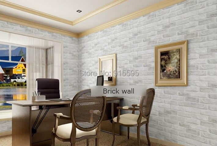 Głęboko Tłoczone 3D Tapeta Nowoczesna Zabytkowe Cegły Cegły Kamienia Wzór Papieru Rolki Tapety Dla pokoju gościnnego okładzina Ścienna Decor 4