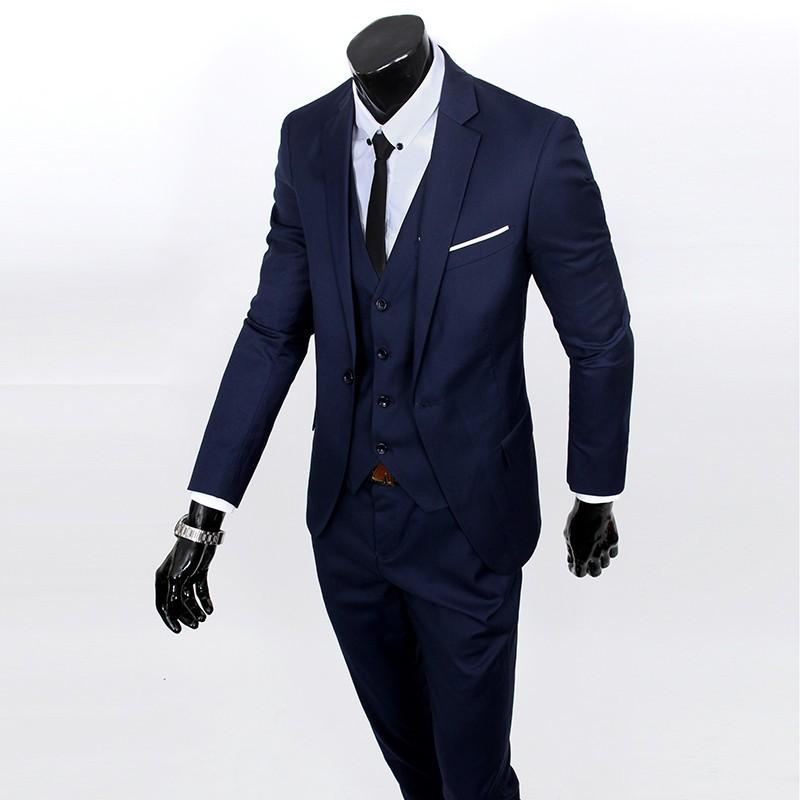 (Kurtka + kamizelka + spodnie) 2017 Nowa wiosna marka koszulka Męska slim fit Firm a trzyczęściowe Garnitury/Męskie dobrej groom dress/mężczyźni Blazers 20