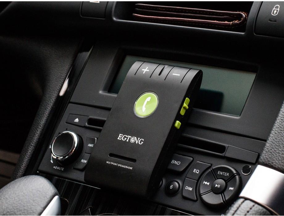 Bluetooth Zestaw Głośnomówiący Bluetooth Zestaw Głośnomówiący Zestaw Samochodowy z Ładowarką Samochodową A2DP Bezprzewodowy telefon Auto obsługa głosowa Połączeń ID raport 6