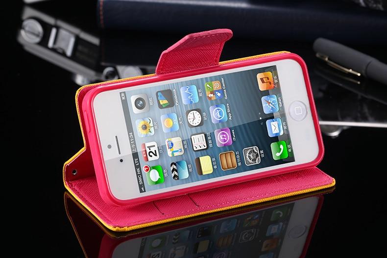 Podwójny kolor klapki skóra telefon torba case dla iphone 6 7 6 s plus 5 5S se gniazda kart + stojak kabura pokrowiec case dla iphone 7 6 6 s 56