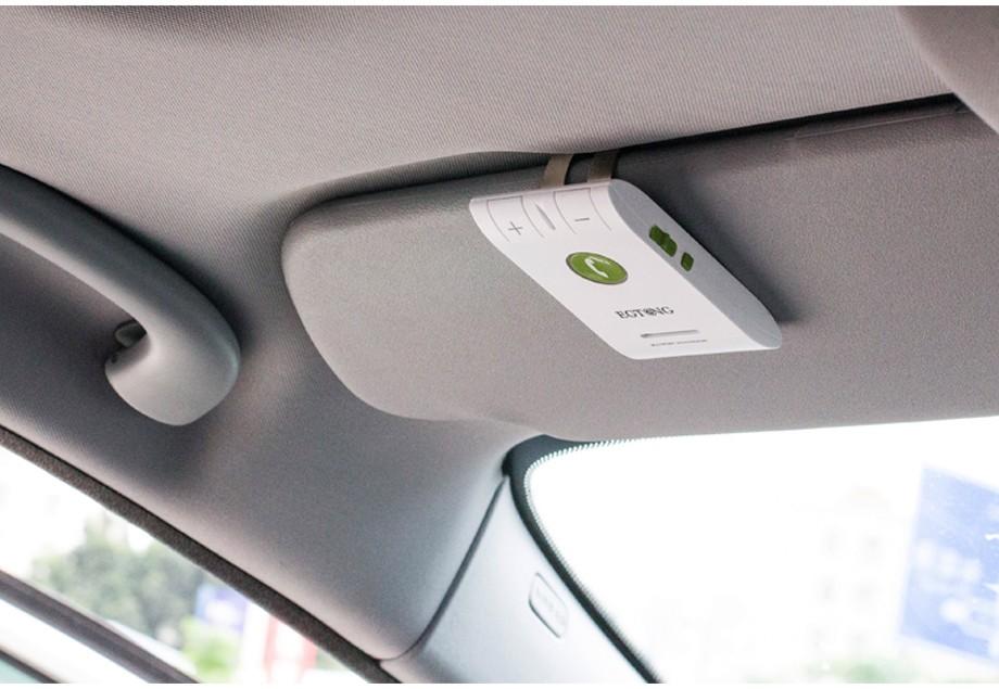 Bluetooth Zestaw Głośnomówiący Bluetooth Zestaw Głośnomówiący Zestaw Samochodowy z Ładowarką Samochodową A2DP Bezprzewodowy telefon Auto obsługa głosowa Połączeń ID raport 4