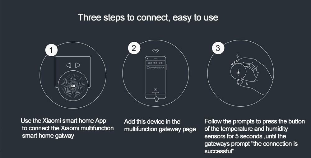 Oryginalny Xiaomi Mi Inteligentny Czujnik Temperatury i Wilgotności, umieścić dziecko Home office Praca Z Android IOS APP 9