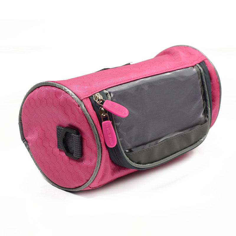 Wodoodporny Ekran Dotykowy Sakwy Rowerowe Rower Górski Rower Torby Phone Bag Case Rower Szosowy Rura Przednia Kierownica Torba Cylindra 25