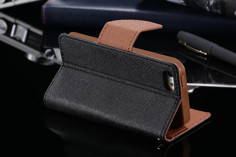 Podwójny kolor klapki skóra telefon torba case dla iphone 6 7 6 s plus 5 5S se gniazda kart + stojak kabura pokrowiec case dla iphone 7 6 6 s 39