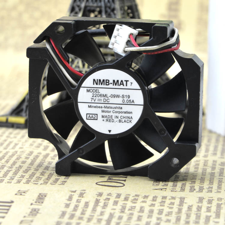NMB 26ML-09W-S19 7V 0.05A 5.7CM 57*52MM silent USB fan cooling fan Free Shipping