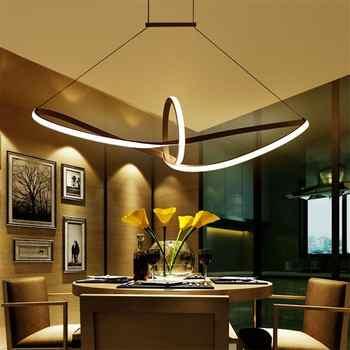 Buena oferta Moderno acrílico arte Colgante luces restaurante cocina ...