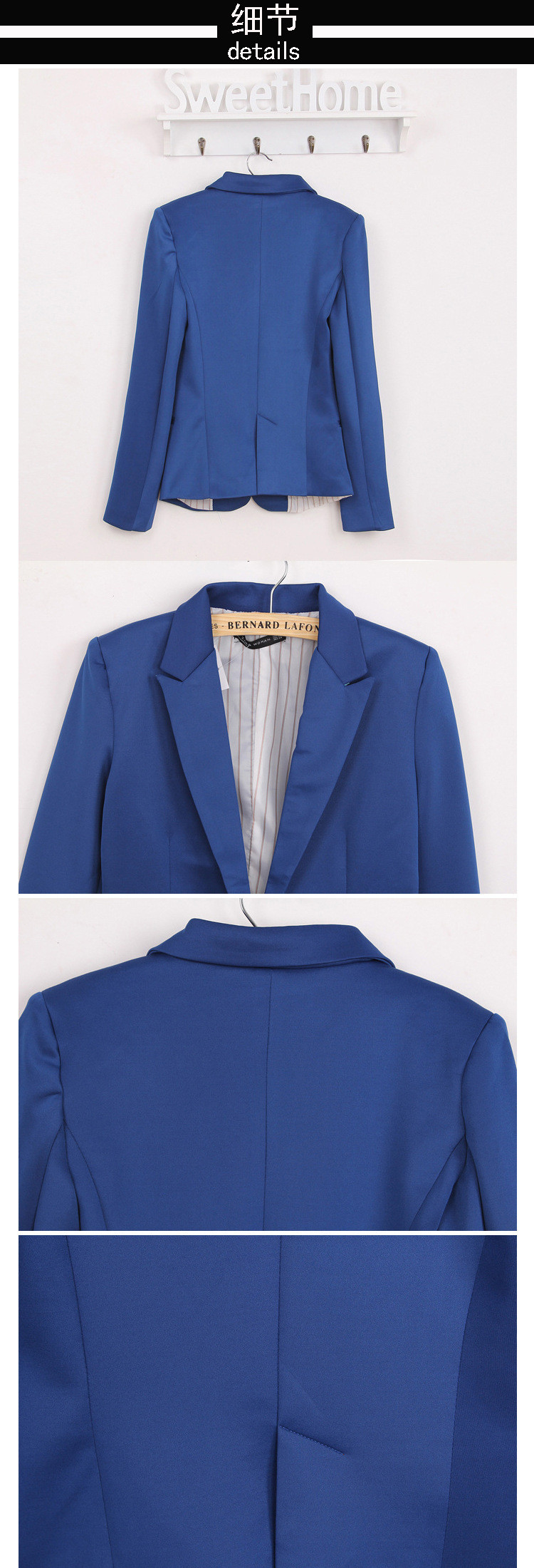 NOWY blazer kobiety kostiumu blezer składana marka kurtka wykonana z bawełny i elastanu z podszewką Vogue odśwież blazers 11