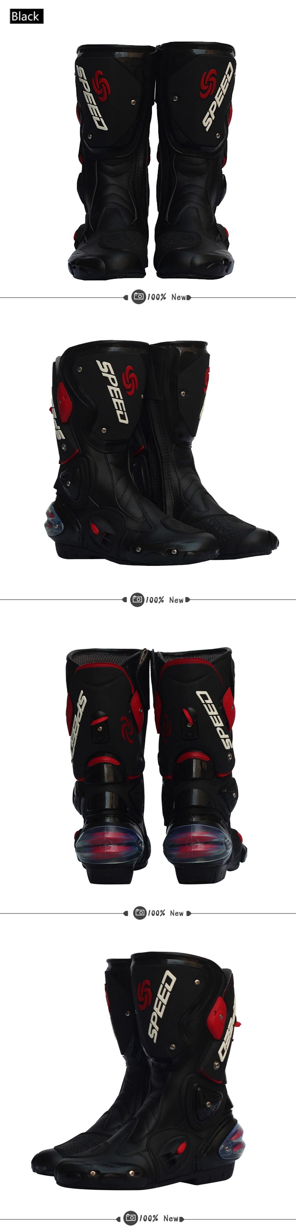 Men Motorcycle Boots Motocross Racing Speed Motorbike Shoes