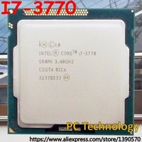 Original Intel prozessor I7 3770 8 mt Cache, 3,40 ghz Quad-core LGA1155 77 watt desktop I7-3770 CPU Freies verschiffen schiff heraus innerhalb 1 tag