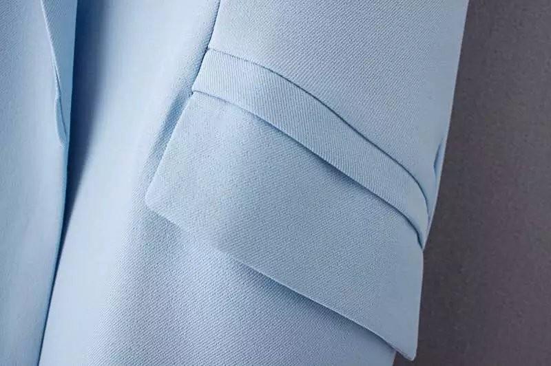 2017 wiosna nowy mody długie kieszenie turn-dół collar otwórz stitch pantone niebieski różowy beżowy czarny żakiet kamizelka bez rękawów kurtki 39
