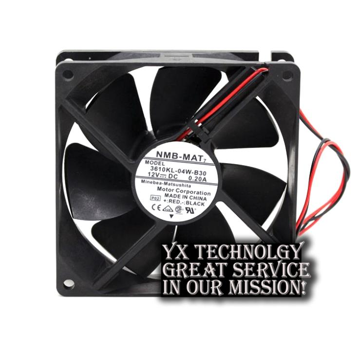 New 92 * 92 * 25mm 9CM 3610KL-04W-B30 9225 12V 0.20A power supply chassis cooling fan for nmb
