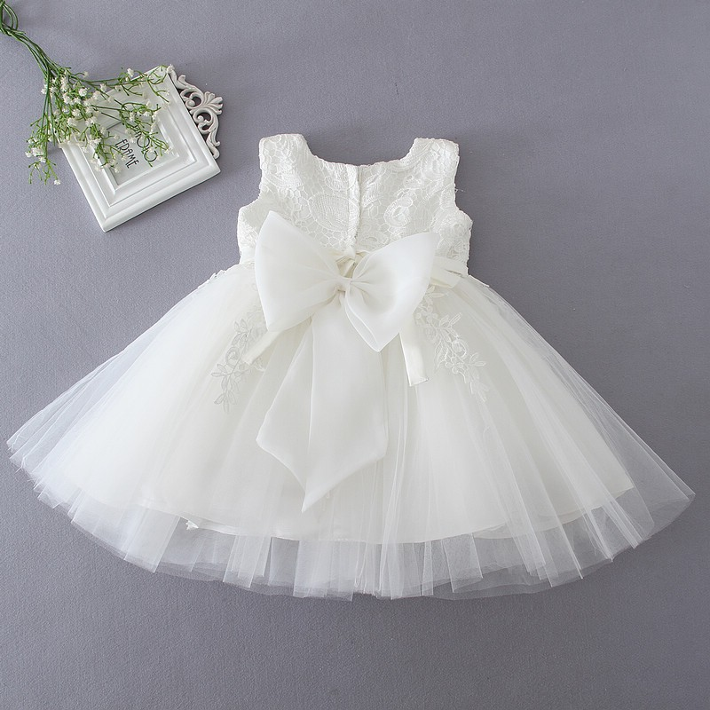 Ivory Tulle Lace Flower Girl Dress 7