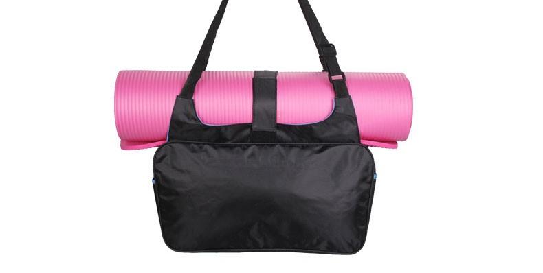 Mata yoga bag wodoodporny plecak na ramię messenger torba sportowa dla kobiet fitness ubrania siłownia duffel torba (nie yoga mat) 3