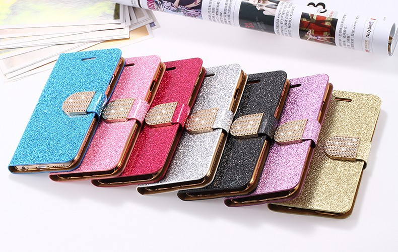 Dla iphone 6 6s plus 7 plus cover glitter bling kryształ diament skórzany portfel case do samsung galaxy s6 edge plus s7 edge torby 27