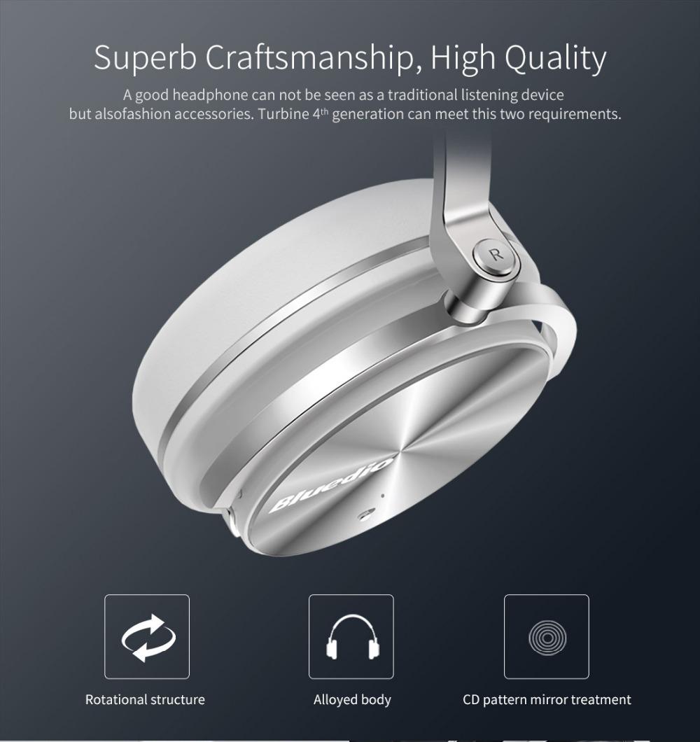 T4 bluedio aktywny hałasu anulowanie słuchawki bezprzewodowe bluetooth bezprzewodowy zestaw słuchawkowy z mikrofonem 12