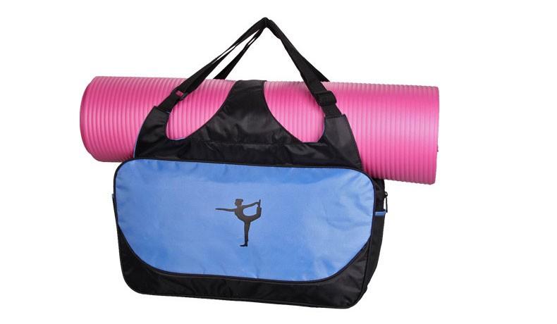 Mata yoga bag wodoodporny plecak na ramię messenger torba sportowa dla kobiet fitness ubrania siłownia duffel torba (nie yoga mat) 4