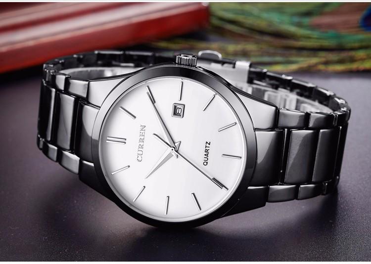 Curren 2016 Najlepsze Marki Biznesmenów Mężczyzna Luksusowy Zegarek Na Co Dzień Pełne stali Kalendarz zegarki Na Rękę zegarki kwarcowe relógio masculino 11