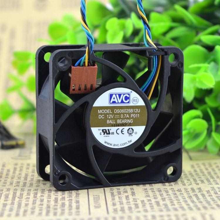 AVC DS06025B12U P011 60mm 6cm DC 12V 0.70A 5200 RPM 25.2 CFM Pwm server inverter cooling fan