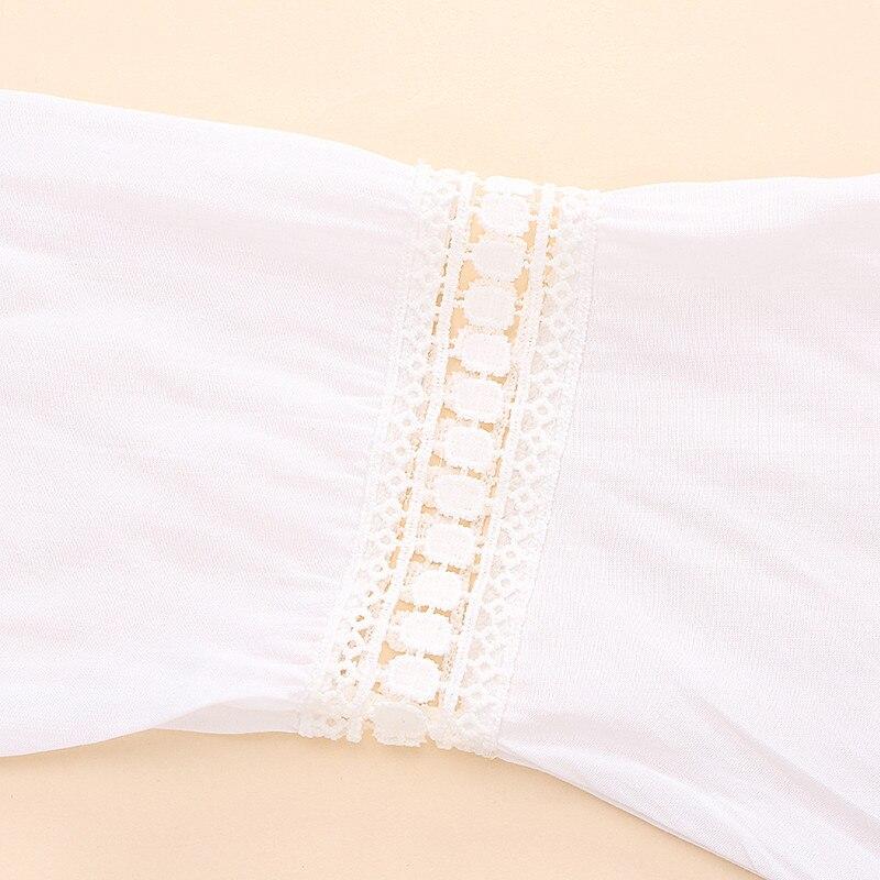 2017 bohemian style kobiety lato white dress sexy dorywczo v szyi 3/4 flare rękaw koronki szydełko loose mini sukienki plażowe vestidos 13
