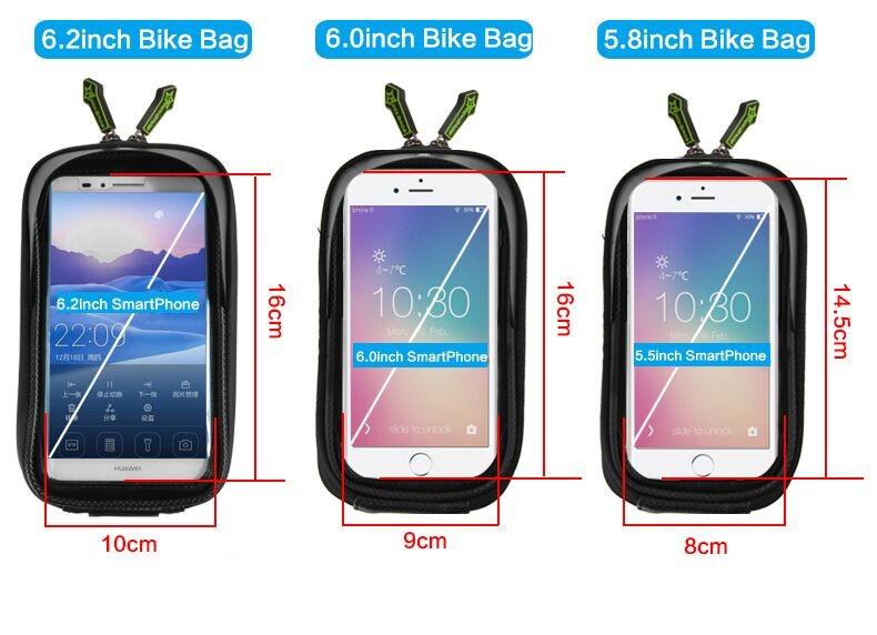Rockbros mtb rama roweru przodu torba głowy górna rura podwójna IPouch Dotykowy Kolarstwo Pannier Dla 5.8/6 cal Smartfon Dotykowy ekran 2