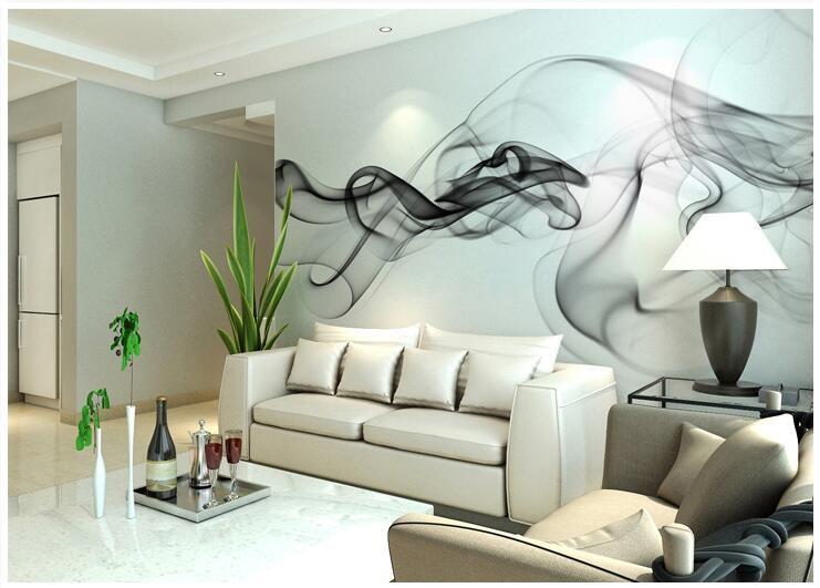 Niestandardowe 3D fototapety Dymu chmury streszczenie artystyczny fototapeta tapeta nowoczesna minimalistyczna sypialnia sofa TV obraz papier 7