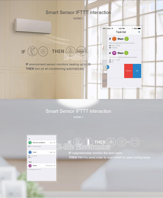 2017 Broadlink RM03 RM PRO Uniwersalny Inteligentny Pilot Smart Home Automation WiFi + IR + RF Przełącznik Poprzez IOS Android Telefon 14