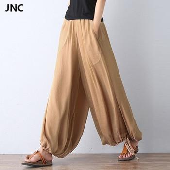 31fde6b933033 2017 New Women Yoga pants Jumpsuit Harem Pants Solid Color Bohemia
