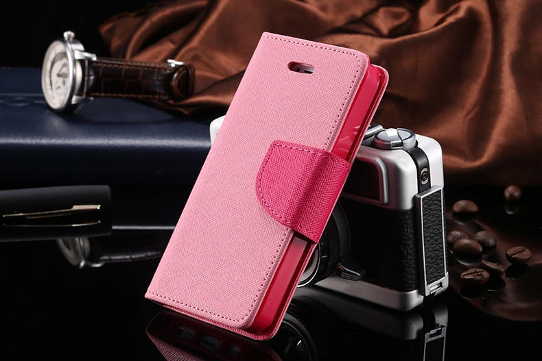 Podwójny kolor klapki skóra telefon torba case dla iphone 6 7 6 s plus 5 5S se gniazda kart + stojak kabura pokrowiec case dla iphone 7 6 6 s 24