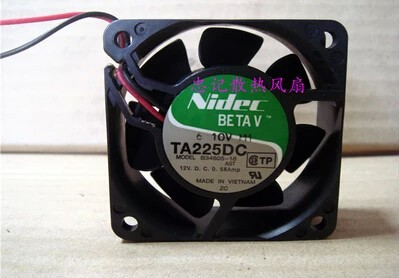 Wholesale: NIDEC 6025 12V 0.58A B34605-16 2 lines radiating fan