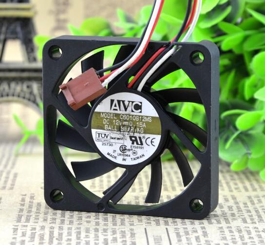 Wholesale: the original AVC C6010B12H 60*60*10 12V 0.1A 0.15A 3 pin cooling fan