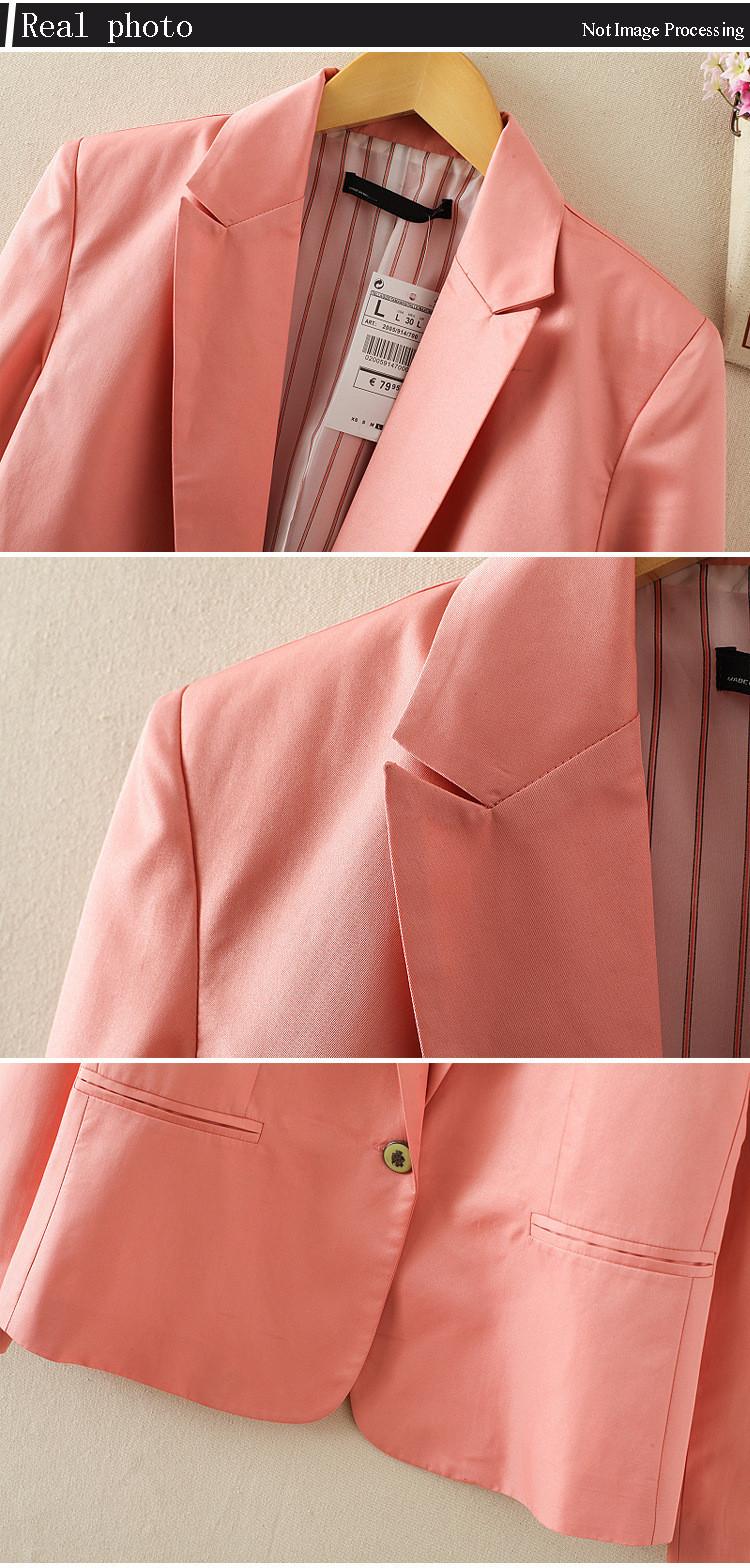 NOWY blazer kobiety kostiumu blezer składana marka kurtka wykonana z bawełny i elastanu z podszewką Vogue odśwież blazers 13