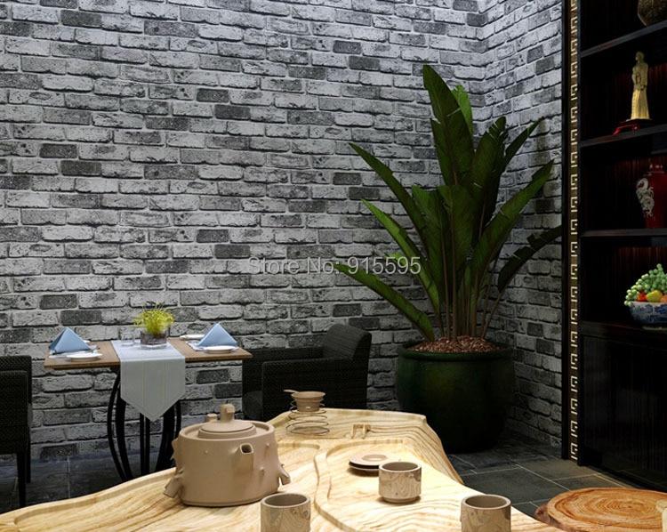 Nowoczesne vintage cegły kamienia pokoju tapety mural 3d winylu wodoodporna tłoczone tapety rolka papel de parede home decor 10 m 24