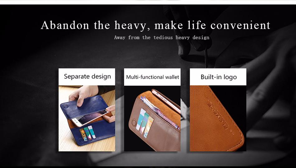 Floveme luksusowe retro skórzany portfel torby phone case do samsung s7 s6 s5 dla iphone 7 6 6 s plus se 5S 5 miękka pokrywa torebka marki 3