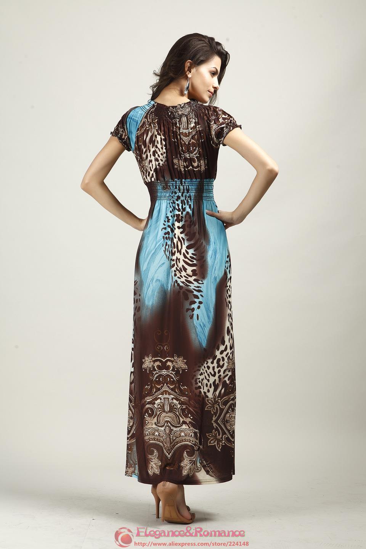 2016 New Retail Wiosna I Lato Moda Na Plaży Sukienka Leopard Sukienka Czeski Mopem Duży Rozmiar Ice Silk Suknie 8