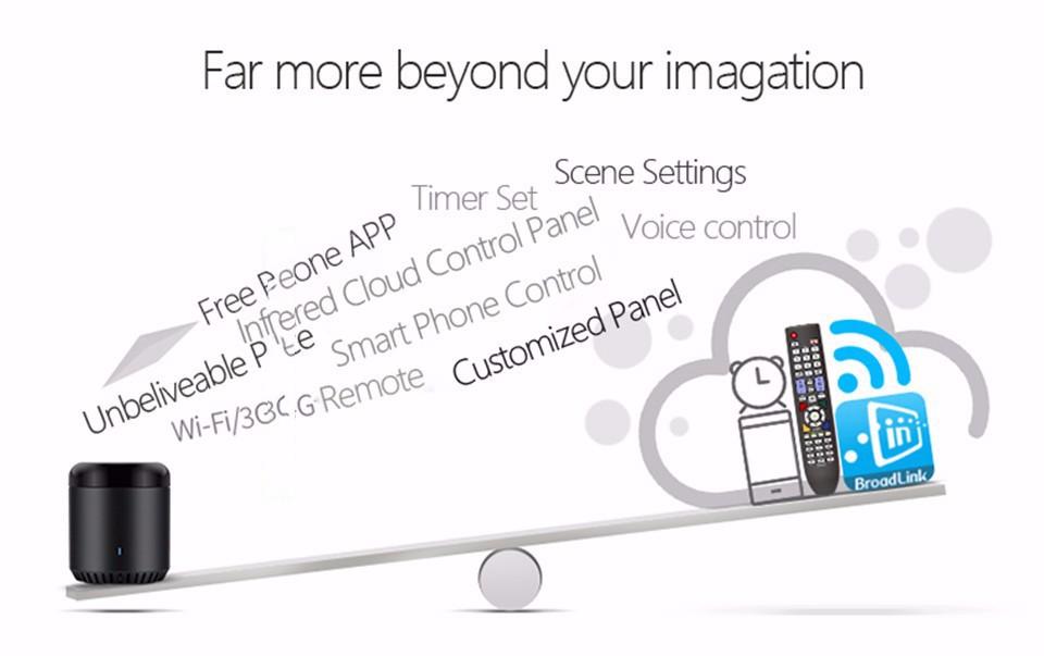 Broadlink RM3 RM Pro/RM mini3 Automatyki Inteligentnego Domu Uniwersalny Inteligentny Pilot WIFI + IR + RF Przełącznik dla iOS Android 28