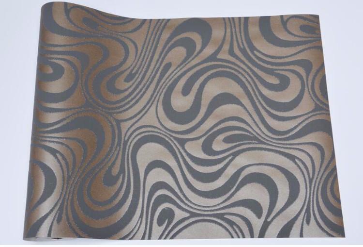 Wysokiej jakości 0.7 m * 8.4 m nowoczesny luksus 3d tapety rolki mural papel de parede uciekają na paski ściany papier 5 kolor r136 13