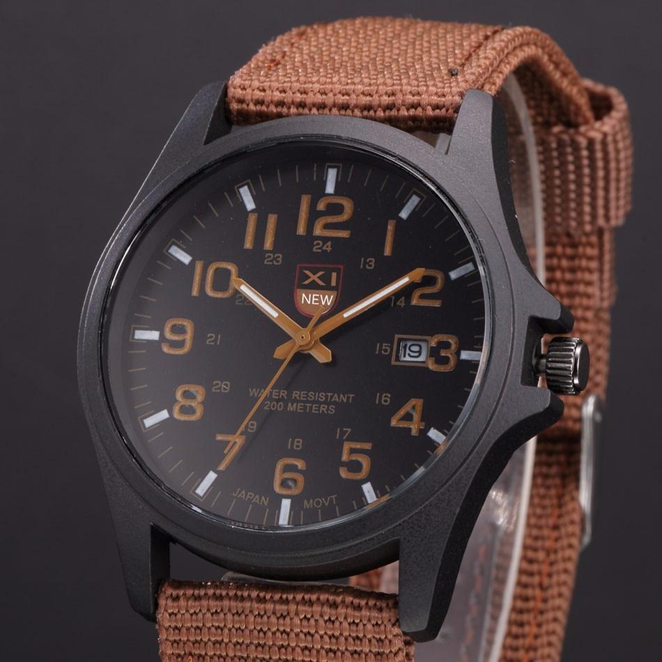 Fantastyczny xinew luksusowe boisko sportowe mężczyzna zegarka kalendarz data mens steel analogowe kwarcowy zegarek wojskowy erkek relogioi kol saat 21
