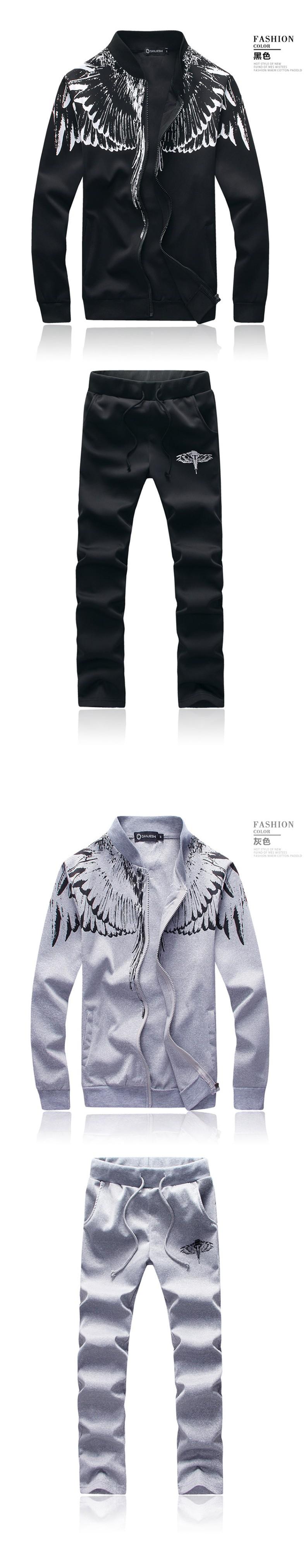 Marka-Odzież Dres Dorywczo SportSuit Męskie Odzieży Męskiej Mody Wiosna/Jesień Bluzy/Bluzy Żakiet + Spodnie Dres Polo 2016 4